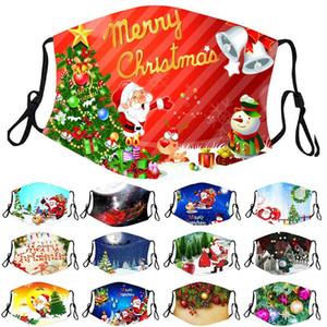 Weihnachten Gesichtsmaske Weihnachtsmann-Baum-Schneemann-Designer Gesichtsmaske Weihnachten Deer Dekoration Digital Printing Staub Haze facemask