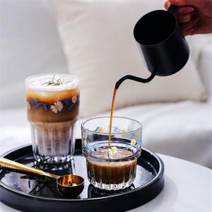 1pcs Creative Coffee Glass Beer Juice Mug Milk Drink Cup Red Wine Glass Flat White Bar Accessories Coffee Shop Tools De bbyKrL