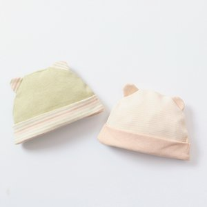 European and American baby forehead cap baby organic color cotton hat newborn non-dye printing tire cap