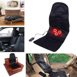 Electric Massager Chair Massage Electric Car Seat Vibrator Back Neck massagem Cushion Heat Pad For legs Waist Body Massageador