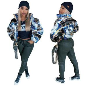 Frauen Designer Kleidung 2020 Parka Winter-wattierte Jacken Zipper Cotton-padded F110406 Mantel Windstopper Mäntel Mode Puffer Kurze Jacke