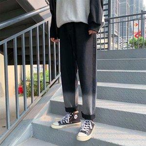 Pants Mens Loose Straight Jeans Ular Brand Autumn Winter Gradient Versatile Hong Kong Style Pendant Sense