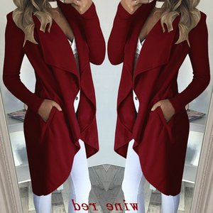 fashion solid New color long windbreaker jacket for women in autumn and winter 2020