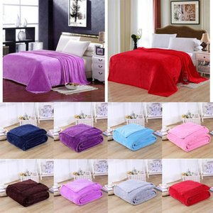 Flannel Blanket for bed Cover Home bedding Sofa throw Cobertor Air conditioner Living room Texture Fabric Soft Thicken Warm-keep
