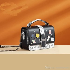 Women s bags new European and American fashion handbags printed messenger shoulder bags middle-aged trendy women s bags LMYP1066