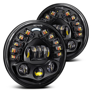 Day Running Light Turn Signal Bulbs Auto Lamp Projector 84W Round Led Motorcycle Headlight Kit 7 Inch Auto Part Light