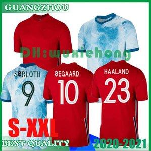 Notizie 20 21 del pullover di calcio di Man 2020 2021 # 23 # 15 Haaland Berge # 7 Re camisetas de fútbol Nazionale di calcio Uniformi Thailandia S-XXL