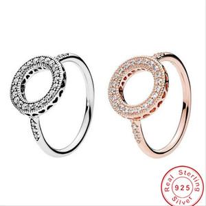 خمر حلقة الأزياء والمجوهرات حار بيع حقيقي 100٪ 925 فضة تمهيد الأبيض الياقوت تشيكوسلوفاكيا الماس المرأة الزفاف خطوبة الفرقة حلقة هدية
