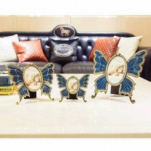 European Metal Schmetterlings-Foto-Rahmen-Dekoration Paar Diamant-Foto-Feld Wohnzimmer Schlafzimmer Desktop-Dekoration Geburtstags-Geschenk xl0q #