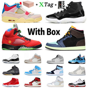 With Box Stock x Zapatos Nike Air Retro Jordan 1 Basketball 1s  Jordans Hombres mujeres Shoes Mid Trainers off White Sail 4 what the 5 Concord High 11 11s Jumpman Stockx  Sneakers