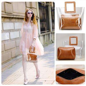 Transparent Composite Bags For Women Summer Beach Bag Female Clear Candy Handbags Women Handbags Top handle Bag Tote Bags