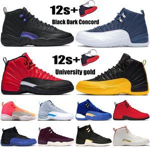 Nuovo Jumpman scarpe 12 12s uomini di basket Nero Testa di Concord università oro inverso gioco influenza alba Bulls Fiba CNY mens di sport scarpe da ginnastica