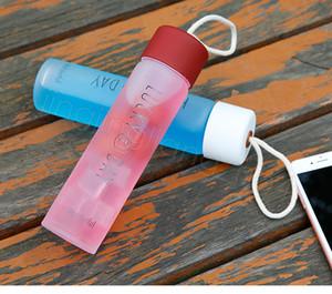 서리로 덥은 물 유리 텀블러 머그잔 물 병 휴대용 야외 스포츠 유리 컵 아이들 학교 컵 Drinkware 텀블러 CYF4586
