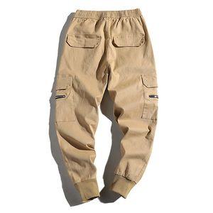 Spring Automne Nouvelle marque Solid Casual Beaucoup de poches Pantalons minces Vente chaude Hommes Pantalons Mode Homme Pure Color Ban