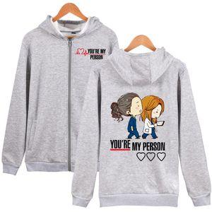 You are my person Zipper Hoodie Greys anatomy Zip up Hoodie Sweatershirt 201006