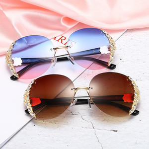 Fashion Clear Lens Male Frame Sun Items Woman Sunglasses Red UV400 Yellow Metal Glasses Gold Birthday Round Gift Retro Sun Glass Tqxet