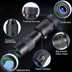 4K 10-300X40mm Super Telephoto Zoom Monocular Telescope Portable Spyglass Zoom High Quality Hunting Travel Outdoor Activities