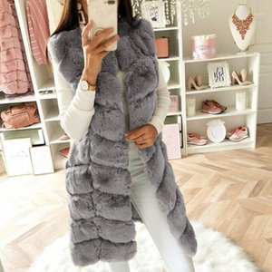Fashion Winter coat women Faux Fur Gilet Vest Sleeveless Waistcoat Body Warmer Jacket Coat Outwear chaquetas mujer 20211