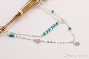 Necklaces Pendants Vintage Boho Tassel Metal Bar Multilayer Necklace Alloy Gold Plated Long Charms Chains Necklaces
