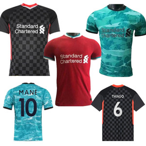 20-21 Player version soccer jersey Thai Quality Long sleeve football Jersey Red and Black Customized name football shirt
