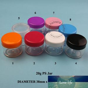 50pcs / Lot Promoção 20g PP Creme Jar Mulheres Cosmetic 20ml recipiente pequeno embalagens reutilizáveis vazio Facial Lid Cream Pot Branco