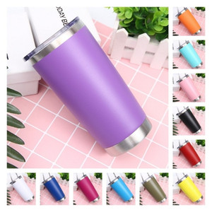 fashion 12 colors 20oz car Stainless Steel Tumbler Insulated Coffee Mug Thermal Cup With Seal Lids Vacuum home Drinkware T2I51686