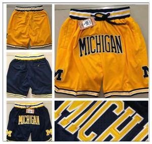NCAA Motion Wind Michigan Wolverines Shorts JUST DONE Robinson III Burke Webber T Hardaway JR jersey Derrick Rose HOWARD