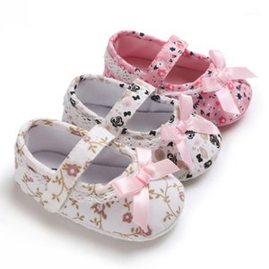 Малыш младенческие новорожденные девушки принцесса обувь детские малыши первые ходунки хлопчатобумажная кроватка цветочные мягкие аспиранты противоскользящие девушки обувь1