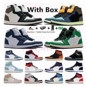 Jumpman 1 1s Mid High Men Women Basketball Shoes mid Light Smoke Grey Toe twist Sneakers Keychain royal toe athletic Trainers