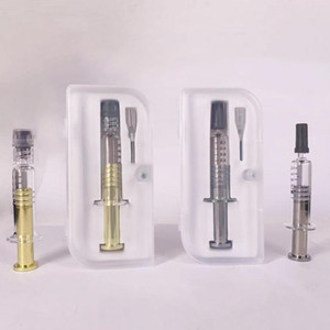 Luer Lock Luer Head Metal Plunger Glass Syringes With Measurement Mark For Filling 510 Thread Thick Oil Vaporizer Pen Cartridges