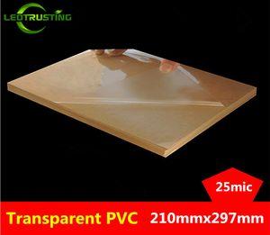 50 sheets A4 Size 210mmx297mm Clear Blank Glossy PVC Sticker Vinyl PVC Label Printing PVC A4 Adhesive Sticker for Laser Printer Q1114