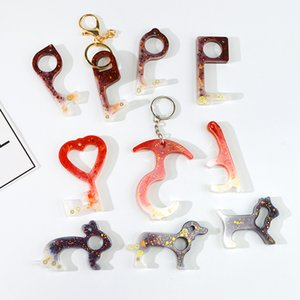 Handmade No Contact Key Mould Love Heart Animal Shaped Drop Glue White Mold DIY New Pattern New Arrival 3 5hj J2