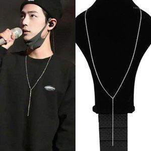 Цепи корейских звезд KPOP 316L из нержавеющей стали длинные ожерелье цепи одиночный o Дизайн женские мужчины мужские ювелирные изделия ожерелье1