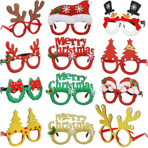 Christmas Ornament Glasses Universal for Adult Children Christmas Toys Santa Claus Snowman Antler Christmas Party Favor Decoration Glasses