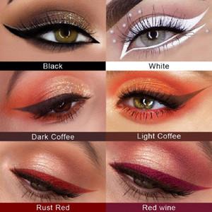 CmaaDu explosiva 6 Color Negro / Blanco / Rojo vino oscuro café / café de la luz / rojo óxido / Delineador de ojos pluma mate secar rápido delineador de ojos de color durante mucho tiem