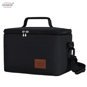Aosbos Fashion Portable Thermal Lunch Bags for Women Kids Men Food Picnic Cooler Box Large Capacity Insulated Tote Bag Storage 201015