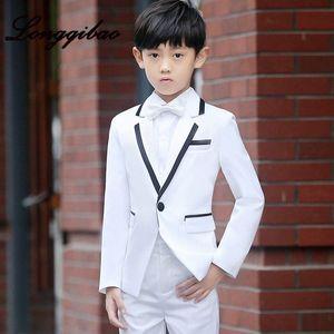 High quality children's suit fashion British style dress set T stage catwalk piano performance dress boy small suit 5 piece set 6NAK#