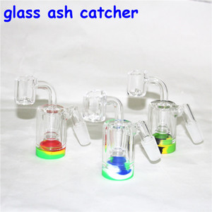 glass ash catcher Silicone Bong Water Pipes Silicone Oil Rigs mini bubbler bong Hookahs Free Glass Bowl nectar collector dabber tools