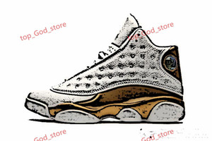 2020 New Arrival Jumpman 13 GS Playground 3M reflection Black white 13s 12 men lusso basketball sports shoes sneakers high