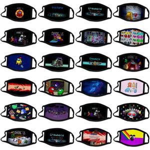 PARMI jeu US de grewmet couleurs mélangées jeux de masque de dessin animé jeu mode design imprimé masques Facemasks masque de coton KID adulte sur mesure