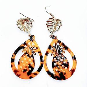 Earrings of Fashion Women Gold Heart Star Hawaiian Earring jewelry Acrylic Drop Earrings Hawaiian Earrings For Women Girls