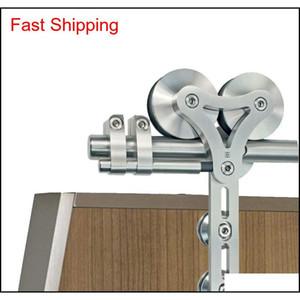 Stainless Steel Dual Wheel Rolling Barn Door Hardware Kit Sliding Barn Door Hardware For In qylsnc sports2010