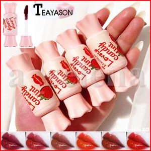 Teayason Güzel Şeker Dudak Ton Seksi Kırmızı Sıvı Ruj Uzun Ömürlü Su geçirmez Kadife Mat Dudak Parlatıcı Dudak 6 Renkler