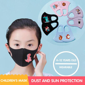 PM2.5 Children Anti-pollution Masks Cartoon Mouth Face Masks Kids Anti-Dust Breathable Earloop Washable Reusable Cotton face Masks