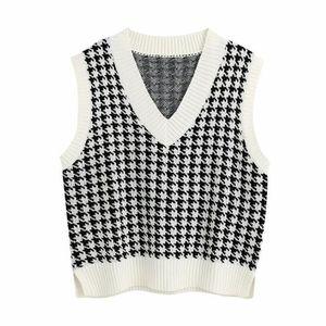 Pull de gilet tricoté surdimensionné surdimensionné pour femmes filles Vintage Sans Side Side Vents Femme Gilet Chic Tops