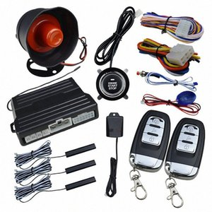 Alarma Yfashion llave inteligente PKE coche motor Start Stop Push Button Sensor System rS8w #