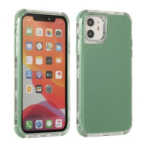 Belle couleur de sucrerie antichocs double couche solide pour iPhone Cas 11 12 Pro 12Mini IPhone11 7 8 Plus SE 2020 XR XS Max X Phone Shell Cover