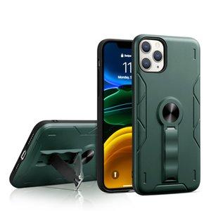 Pour iPhone 12 cas hybride anti-choc armure Stand Case Antichute téléphone portable Case support invisible pour la série iPhone