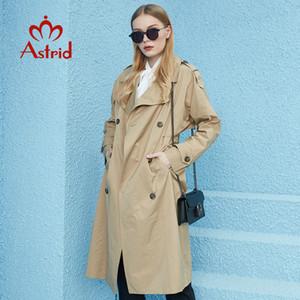 Astrid Nouveau Printemps Automne Trench long capot de grande taille mode coupe-vent Outwear coupe-vent vêtements féminins 7246 201016