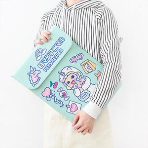 "Waterproof Laptop Bag Sleeve Case Cover For Apple Macbook Samsung Hp 12"" 13 ""15 Cute Unicorn Women Computer Notebook Hand Bag"